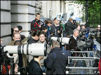Media outside Downing Street