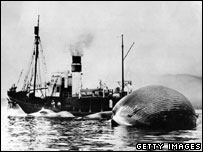 Archive image of whale hunting vessel (Getty Images)
