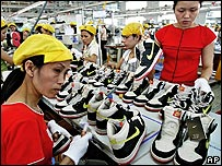 Factory in Ho Chi Minh City, Vietnam, which produces Nike goods
