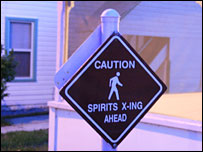 Spirits crossing sign
