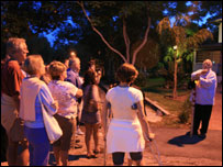 Tour group looks for &quot;orbs&quot; in Cassadaga