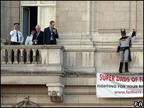 Protester at Buckingham Palace