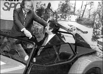Colin Chapman hands over rights to the Lotus 7 to Graham Nearn