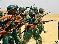 Egyptian troops in training just before the Six-Day War