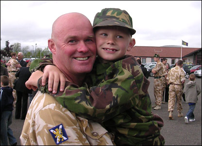 Ross Magnus Mackay with his father, Captain Mackay