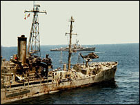USS Liberty day after attack (pic courtesy ussliberty.org)