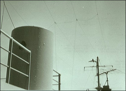Israeli aircraft seen above USS Liberty during attack (pic courtesy ussliberty.org)
