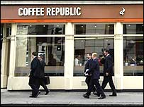 Front of a Coffee Republic shop