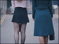 Mini skirt and maxi skirt