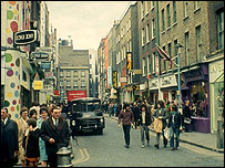 Carnaby St, early 70s
