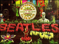 Detalle de la portada de Sgt. Pepper's Lonely Hearts Club Band