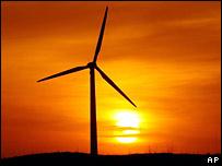 Ветряк на фоне заката