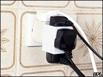 Overloaded plug sockets (Science Photo Library)