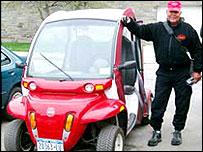 Carros eléctricos en el campus de la Universidad de Cornell