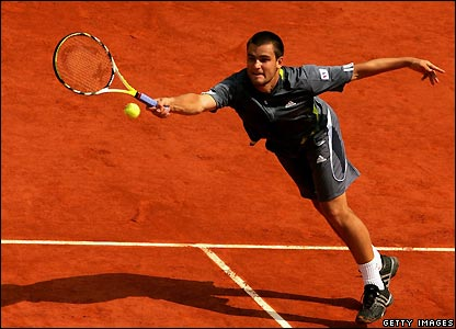 Russia's Mikhail Youzhny at the French Open in Paris