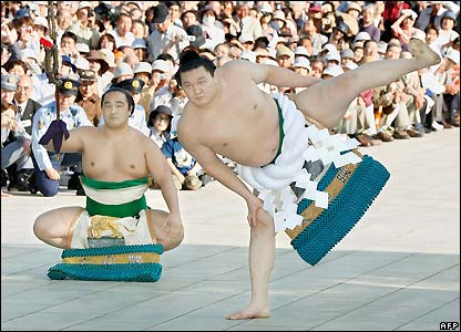 Mongolian-born sumo grand champion Hakuho