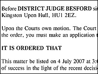 Part of Judge Besford's order