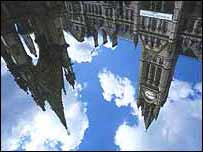 Manchester town hall - upside down