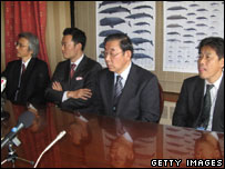 Japanese whaling delegation (Getty Images)