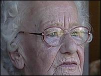 Lucy Foster, battling pensioner