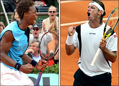 Gael Monfils and David Nalbandian
