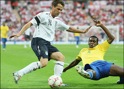 Michael Owen in action at Wembley
