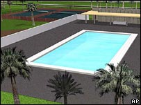 Image of swimming pool planned for new US embassy in Baghdad