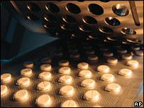 Generic shot of pills being manufactured