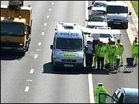 Scene of incident on M27
