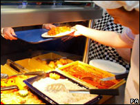 School meals being served