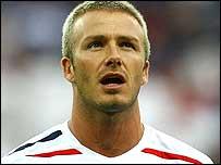 England midfielder David Beckham