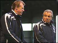 England coach Steve McClaren (left) and assistant Terry Venables