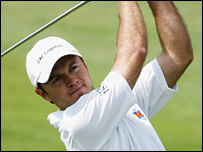 Richard Sterne played a brilliant back nine to win the Wales Open