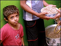 Palestinian refugee child at Chatilla camp