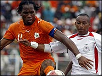 Didier Drogba in action against Madagascar