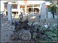 Bomb blast debris, 3 June 2007