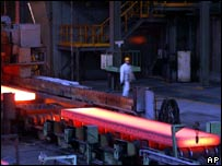 Steel plant at Anshan in northeast China's Liaoning province