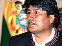 Bolivain President Evo Morales