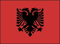 Flag of Albania, used by Albanians in Kosovo