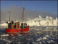 Fishing boat in the Arctic Circle (Image: BBC)