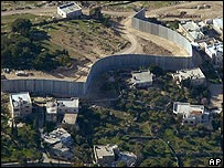 Part of Israel's barrier in Abu Dis, East Jerusalem