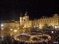 Акция протеста в Праге 17 марта 2007 года
