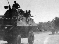 Fifth Brigade troops arrive in Matabeleland, January 1983  (Photo: Jacana Media)