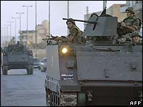 Lebanese troops outside Ain al-Hilweh - Sunday 3 June