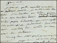 A letter by Napoleon [Copyright: Christie's Images Limited]