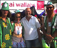 Michael Eavis and the Green Police: image from Howard Grange/Dominic Search