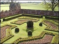walled garden, edzell castle, courtesy of Undiscovered Scotland