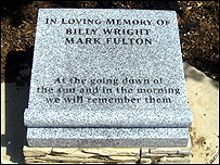 Billy Wright memorial in Portadown