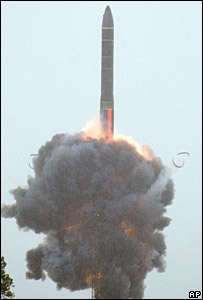 Russian test launch of its RS-24 intercontinental ballistic missile - 29/5/2007