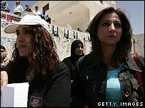 Palestinian TV staff